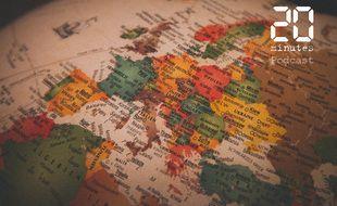 Illustration d'un globe terrestre centré sur l'Europe