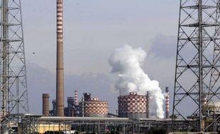 L'aciérie Ilva, le 27 novembre 2012 à Taranto
