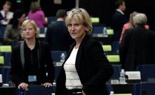 L'eurodéputée Nadine Morano au Parlement européen le 7 octobre 2015