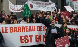 Manifestation des avocats le 3 février 2020 à Paris.