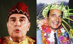 François Mitterrand au Bénin, et Jacques Chirac à Nouméa