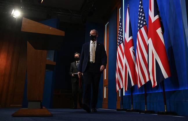 648x415 secretaire britannique affaires etrangeres dominic raab droite assiste conference presse secretaire etat americain antony blinken suite reunion bilate