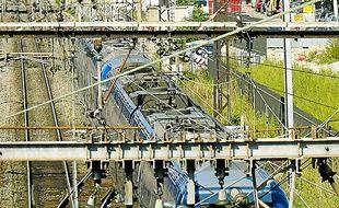 Le 28 septembre 2011. Illustration sur le réseau ferroviaire rhônalpin. CYRIL VILLEMAIN/20 MINUTES