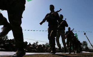 Des soldats du Hamas s'entraînent à Khan Yunis dans la bande Gaza, le 29 janvier 2015