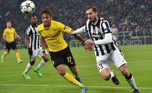 L'attaquant de Dortmund Pierre-Emerick Aubameyang, le 24 février 2015 contre la Juventus à Turin.