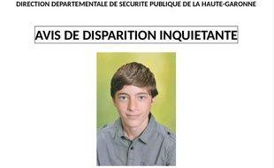 L'appel à témoins lancé par la police nationale pour retrouver le jeune Youness.