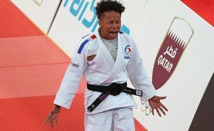 Amandine Buchard lors de sa victoire aux Masters de Doha, en janvier 2021.