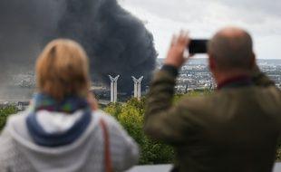 L'usine Lubrizol de Rouen a été touchée par un incendie le 26 septembre dernier.