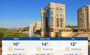 Météo Montpellier: Prévisions du vendredi 27 mars 2020
