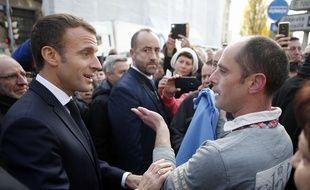 Le président Emmanuel Macron face aux Français à Charleville-Mezières le 7 novembre 2018