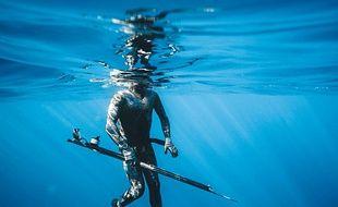 Illustration de pêche sous marine