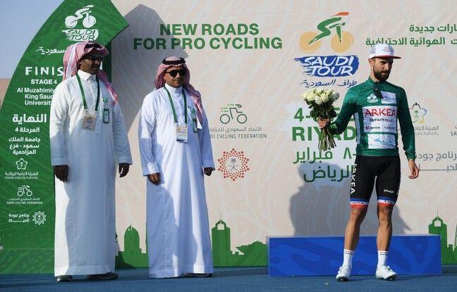 Nacer Bouhanni lors du Saudi Tour le 7 février 2020.