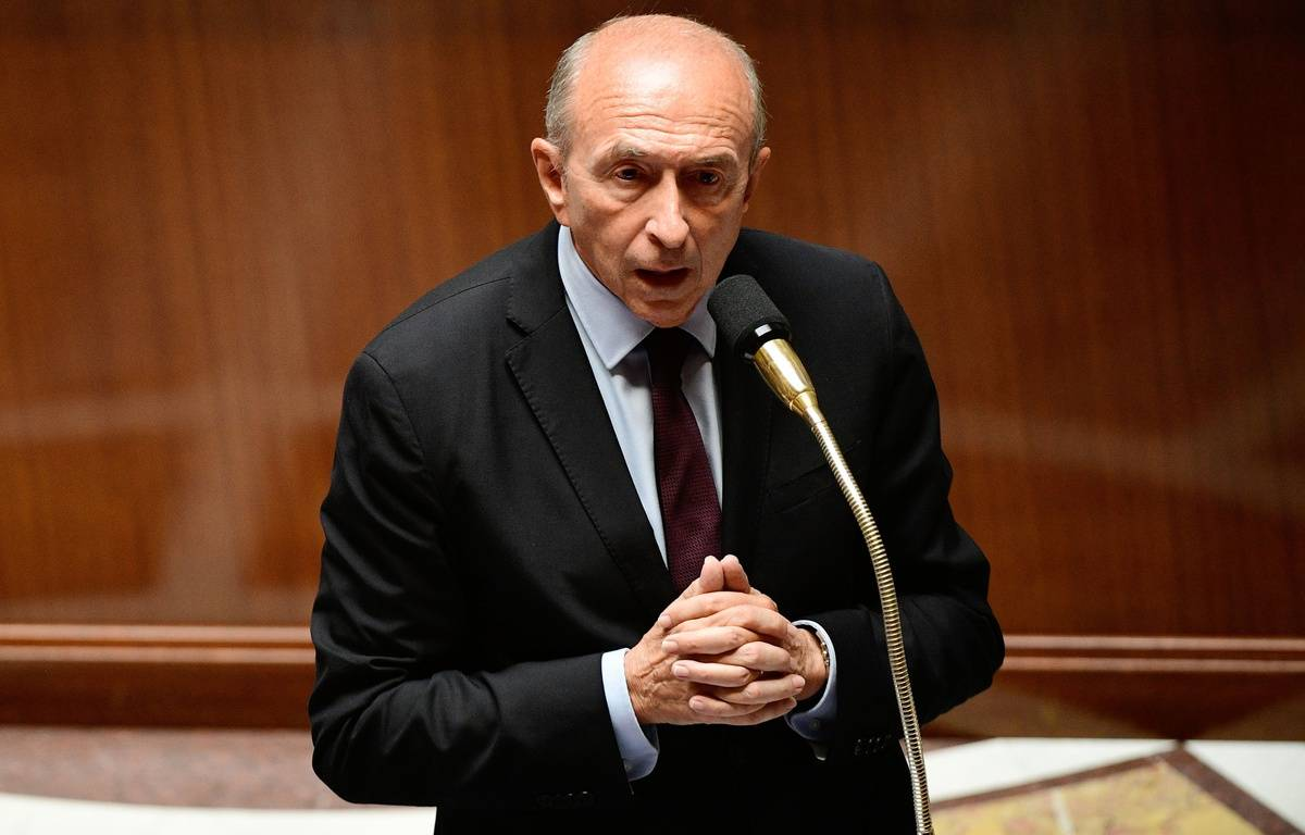Gerard Collomb, le ministre de l'Intérieur, lors des questions au gouvernement à l'Assemblée nationale, le 5 juillet 2017. – AFP