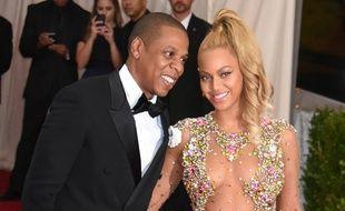 Le rappeur Jay Z et la chanteuse Beyoncé