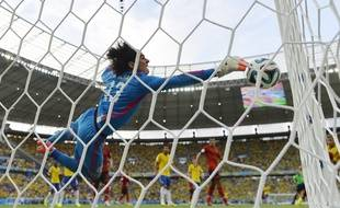Memo Ochoa lors du match Mexique-Brésil, le 17 juin 2014.