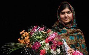 La jeune prix Nobel de la Paix pakistanaise Malala Yousafzai le 10 octobre 2014 à Birmingham, en Angleterre