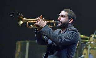 Le trompettiste franco-libanais Ibrahim Maalouf lors de la soiree « You and the Night and the Music » organisée par la radio TSF Jazz en décembre 2019.