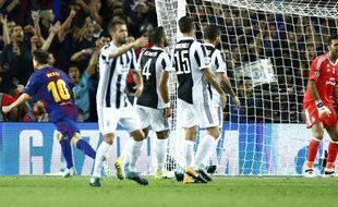 Lionel Messi marque face à la Juventus