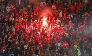 La joie des supporters turcs au stade Bollaert