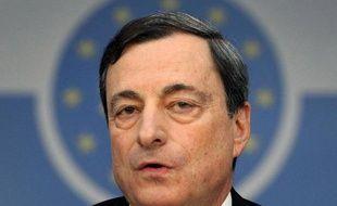 Le président de la BCE, Mario Draghi, lors d'une conférence de presse le 9 janvier 2014 à Francfort