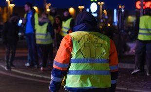 """La mobilisation des """"gilets jaunes""""reste importante à Saint-Etienne, dans la Loire. Illustration."""