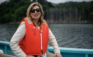Valérie Trierweiler lors d'un voyage au Japon avec une délégation de la Croix Rouge en 2015.