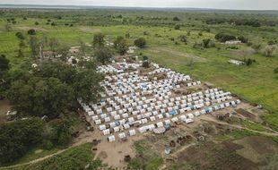 Un camp de réfugiés dans la province de Cabo Delgado, théâtre de multiples attaques de groupes djihadistes.