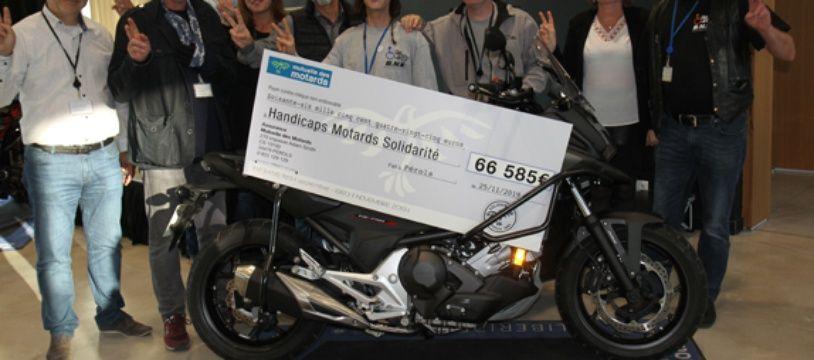 Les sommes versées par la Mutuelle des motards à l'association Handicaps Motards Solidarité, permettront notamment l'achat de véhicules adaptés.