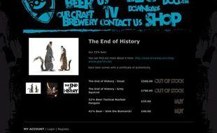 Capture d'écran du site de la brasserie BrewDog