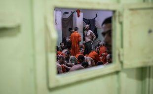 Une prison dans le nord est de la Syrie abritant des supposés membres de Daesh, le 30 octobre 2019.