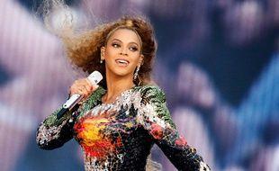 Beyoncé en concert en Allemagne en juillet 2018.