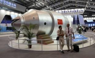 Modèle d'exposition de la station spatiale chinoise Tiangong-1.