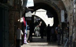 Le quartier musulman de la vieille ville de Jerusalem le 5 octobre 2015