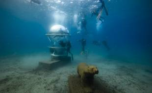 L'Aquabulle exposée au musée subaquatique de Marseille