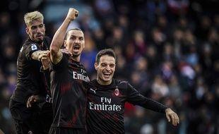 Zlatan Ibrahimovic a marqué son premier but depuis son retour au Milan AC, le 11 janvier 2020.
