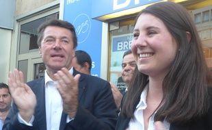 Marine Brenier a pu compter sur l'appui de l'ex-député Christian Estrosi