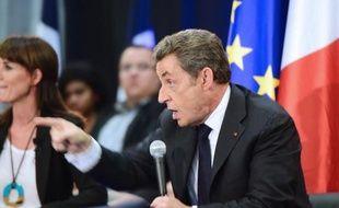 L'ancien président Nicolas Sarkozy à Toulouse le 8 octobre 2014