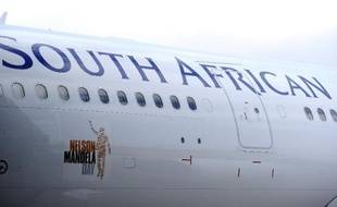 Un avion de la South African Airways le 4 juillet 2011 à Johannesburg