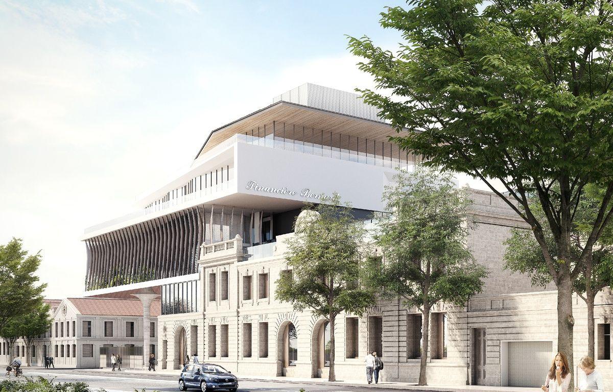 Image du nouveau siège et des chais agrandis de Millesima quai de Paludate à Bordeaux – Brochet-Lajus-Pueyo