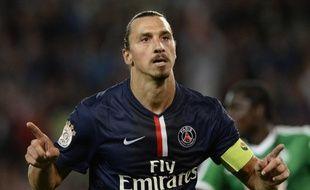 Zlatan Ibrahimovic a inscrit trois des cinq buts de la large victoire parisienne contre Saint-Etienne (5-0) lors de la 4e journée de L1, le 31 août 2014.