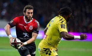 L'arrière-ailier du Stade Toulousain Maxime Médard lors d'un match du Top 14 contre Clermont au Stadium de Toulouse, le 9 novembre 2019.
