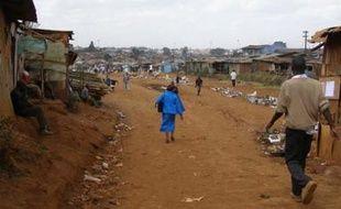 Le bidonville de Kibera, à l'ouest de Nairobi, au Kenya.