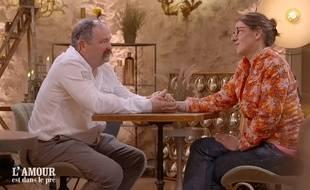 Vincent et Pascale lors de leur speed dating diffusé lundi soir dans «L'Amour est dans le pré».