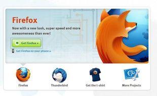 La page d'accueil du site de la fondation Mozilla, qui développe le navigateur Internet Firefox.