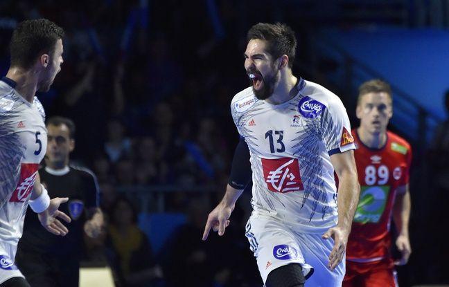 Nikola Karabatic, star de l'équipe de France de handball, lors du match France-Norvège à Nantes.