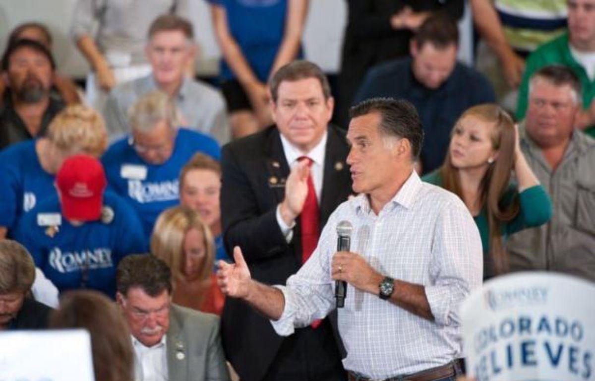 """Le candidat républicain à la Maison Blanche Mitt Romney a assuré mardi qu'il n'avait """"rien à cacher"""" aux impôts, en réponse aux attaques du camp démocrate lui reprochant de rester très discret sur certains comptes qu'il détiendrait à l'étranger. – Nicholas Kamm afp.com"""