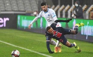 Alvaro Gonzalez et Neymar, le 13 janvier 2021.
