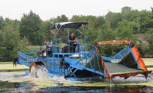 Un bateau «tondeur-moissonneur» va sillonner la Vilaine cette semaine.