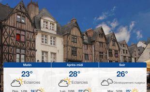 Météo Tours: Prévisions du samedi 31 août 2019