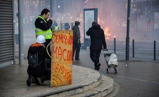 Des affrontements entre manifestants et forces de l'ordre ont eu lieu samedi à Rennes.